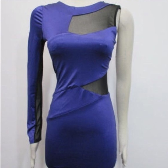 bebe Dresses & Skirts - NWT - Bebe x Kardashian One Shoulder Mesh Dress M